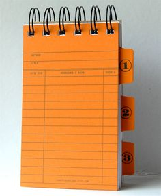 Library Card Note Book Notepad