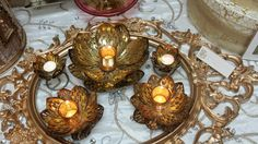 Cluster of our Lazer lotus collection.. Ethnic Home Decor, Lotus, Bling, Collection, Lotus Flower, Jewel, Ethnic Decor, Lily