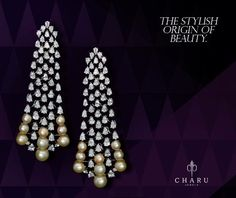 Scintillating designs of women earrings in all the pretty tints of gold, studded with brilliant cut diamonds is available at Charu Jewels web store. Buy your favorite design at best prices online from the best collection of diamond jewelry.