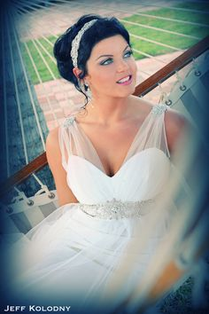Fresh Bridal Portrait taken at Acqualina Resort u Spa Miami FL Bridal Gown by Boca Raton