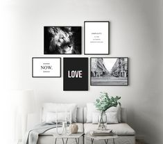 Set of 5 Posters Wall Decor Printable Wall Art Wall Decor Poster sets Digital Do Wall Decor Set, Modern Wall Decor, Photo Wall Decor, Letter Wall Decor, Home Design, Wall Design, Bedroom Wall, Bedroom Decor, Bedroom Quotes