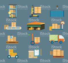 配送輸送コンセプト ロイヤリティフリーのイラスト素材