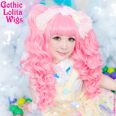 Baby Dollight™ Collection - Deep Pink Mix  Babydoll style comes with a deep pink mix curly base wig and two matching detachable ponytails. It is super thick with matching ponytails designed along with the base wig to blend seamlessly.   #gothiclolitawigs #GLW #IAMDOLLUXE #wig #coolhair #pink #style #hairstyle #beautiful #pretty