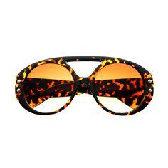 Celebrity Fashion Large Round Sunglasses Shades Tortoise R1830