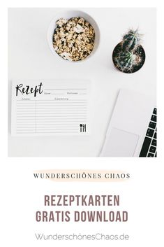 FREEBIE / PRINTABLE Print your own recipe cards . as many as you want for free from home Source by wunderschnes diet plan