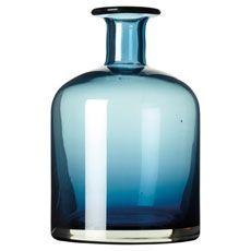 Large Glass Decanter #glassware #decanter #dining #entertaining #OKA #SummerPreview #vases #flasks #blue #flowers