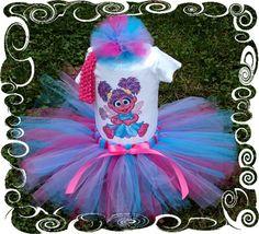 Baby Girl Tutu Dress Abby Cadabby Custom Boutique by wendy20040, $30.00