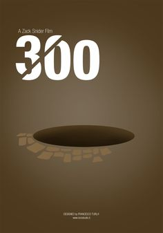 300 | Minimal movie poster | Francesco Turlà