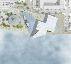 The design team led by Japanese architect Kengo Kuma was announced today winner of the international competition for a new landmark building to house the V&. Landscape Plans, Urban Landscape, Landscape Design, Masterplan Architecture, Architecture Drawings, Contemporary Architecture, Museum Plan, V & A Museum, Dundee Waterfront