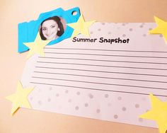 Back to School Summer Snapshot - great for back to school, to help students get to know each other!