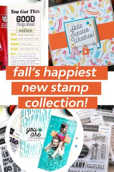 "Send a special ""sweater weather"" greeting with beautiful new Fall-inspired stamps! Available only at Scrapbook.com! #fallcrafts #handmadecards #scrapbookideas #cardstockcrafts #handmadecardsideas #cards #cardshandmade Stamp Collecting, Autumn Inspiration, Fall Crafts, Sweater Weather, Happy New, Stamps, The Incredibles, Scrapbook, Inspired"