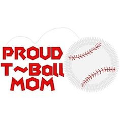 Proud T-Ball Mom Applique - 3 Sizes! | Baseball | Machine Embroidery Designs | SWAKembroidery.com Band to Bow