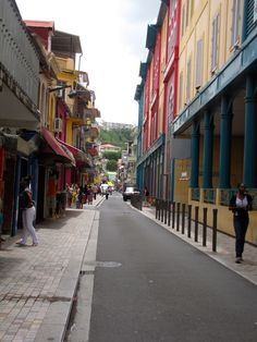 One of the streets in Fort De France