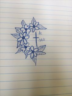 Tattoo for women religious cross small be still