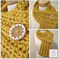 free crochet pattern chunky rib scarf