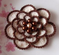 Larger Crochet Flower in 3 inches YH  05402 by YHcrochet on Etsy, $3.80
