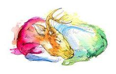 Deer Nap by FinchFight