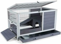 Petsfit Indoor Rabbit Hutch & Hamster Cage with Hideout for Rest and Ramp for Enter and Out, x x Indoor Rabbit House, Rabbit Hutch Indoor, Bunny Cages, Rabbit Cages, Guinea Pig House, Guinea Pigs, Guinea Pig Hutch, Bunny Room, Dwarf Rabbit