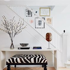 The daughter of an Italian tile setter, knows a thing or two about tile. Her childhood home renovation tells the story… Decor Interior Design, Interior Decorating, Dresser Styling, Family Room, Home And Family, Italian Tiles, Williams Sonoma, Zebras, Zebra Print