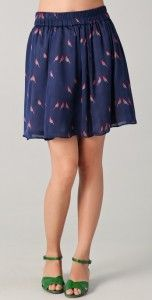 love the bird trend - Marc by Marc Jacobs finch skirt