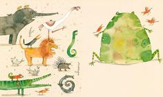 Piet Grobler -  Één slokje, Kikker! Animal Illustrations, Animal 2, Freelance Illustrator, Picture Books, Moose Art, Wildlife, African, Characters, Type