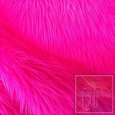 Fuchsia Solid Long Hair Fur www.distinctivefabric.com