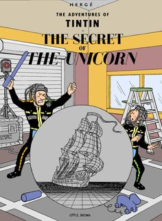 Tintin : Tintin: The CG of the Unicorn by ~SamSaxton on deviantART- Clearly we have a genius on our hands. And it's always amazed me how much resemblance Jamie had to Tintin.