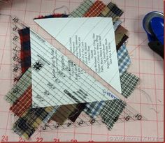 This is a great alternative to the standard string quilt Quiltville's Quips  Snips!!: Geese on a String!