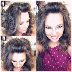 7 Ways to Fix Your Bangs Growing Bangs Out? Check out my tutorial on different ways to fix them. Curly Hair With Bangs, Hairstyles With Bangs, Straight Hairstyles, Twisted Bangs, Updo Hairstyle, Scarf Hairstyles, Prom Hairstyles, Hairdos, Short Brown Hair