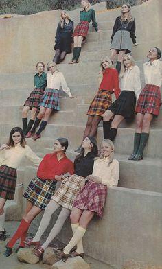 Stylish schoolgirls - 1960's