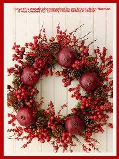 Fabulous wreath/Holiday with Matthew Mead<3