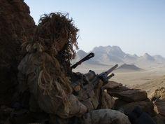 M110, in Afghanistan.