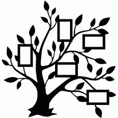 Silhouette Design Store - View Design #76247: 5 frame family tree