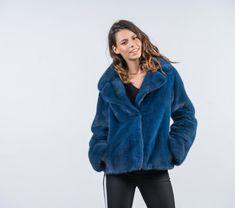 5b35770e165d Electric Blue Mink Fur Jacket  blue  mink  fur  jacket  real  . Haute Acorn