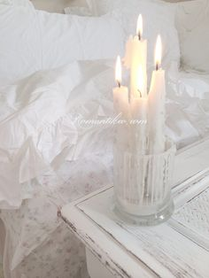 Romantic candles-melted candles