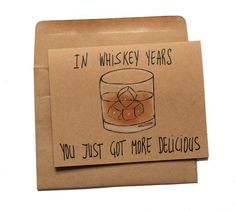 Whiskey Birthday Card - Funny Birthday Card for Whiskey Lovers - Whiskey Card for Dad . - Whiskey birthday card – funny birthday card for whiskey lovers – whiskey card for dad – whiskey birthday card for him – grandfather card, card - Happy Birthday For Him, Birthday Cards For Him, Birthday Card Sayings, Birthday Cards For Boyfriend, Funny Birthday Cards, Birthday Greetings, 25th Birthday Ideas For Him, Birthday Quotes Funny For Him, Humor Birthday