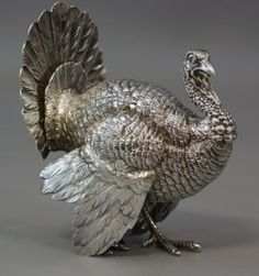 Sterling Silver Turkey, Stamped 925, 2 Sets Of This would really tone up the Thanksgiving table