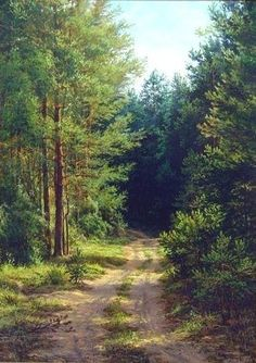 """""""Дорога в сосновом лесу"""""""