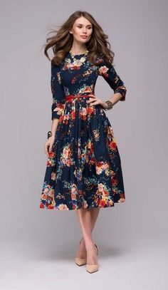 Cheap Dresses, Buy Directly from China Suppliers:Women casual knee-length dress 2018 new arrival long sleeve printing summer dress for offical lady Women loose vestidos Dresses Elegant, Modest Dresses, Fall Dresses, Casual Dresses, Modest Clothing, Pageant Dresses, Mini Dresses, Clothing Stores, Tight Dresses