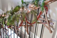 Firewood kindling wooden stars / Funky Junk Interiors Christmas Home Tour 2013 via http://www.funkyjunkinteriors.net/