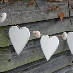 Wooden hearts and pebbles bunting Nautical Bunting, Bunting Banner, Wedding Decorations, Wedding Ideas, Rustic Wedding, Chic Wedding, Mini Handbags, Rustic White, Wooden Hearts