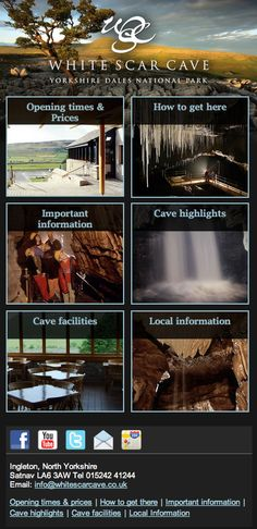 White Scar Cave, the Britin's longest cave,  has a new mobile website that is designed and developed by Obergine.   Visit the website on your mobile at: http://www.whitescarcave.co.uk/  Read a press release at: http://www.creativematch.com/news/obergine-create-mobile-site-for/101368/