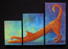 Cat Art  Orange Tabby by NewChapterArts on Etsy