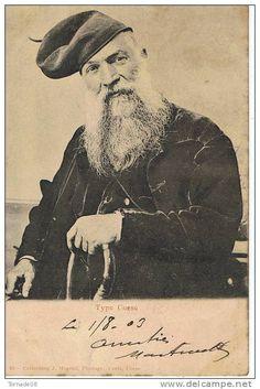 CPA Type Corse : Monsieur portant a Baretta Misgia en 1903 - Costume traditionnel et canne en férule - Précurseur