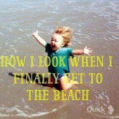 How I look when I finally get to the beach. Call Sun-Surf Realty today to book your beach vacation Hyderabad, Ocean Beach, Beach Fun, Ocean Girl, Summer Beach, Moraira, Ocean Quotes, Sea Qoutes, I Love The Beach