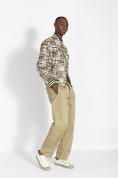 Mens designer clothes combining modern fits with old style construction. Universal work's passion is found in every characteristic piece Universal Works, Designer Clothes For Men, Khaki Pants, Style, Fashion, Mens Designer Clothing, Khakis, Moda, La Mode
