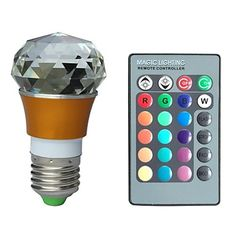 jiawen® e27 3w rgb 16 colores cristal llevó el bulbo con mando a distancia (ac 100-220V) 1769853 2016 – €16.99