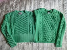 Acne mint green cable knit sweater sweater vs HM sweater. Follow link for more photos