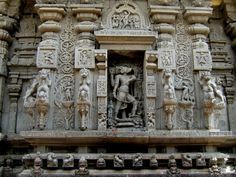 Sculptures on the walls of the Varaha Narasimha temple at Simhachalam,Vizag