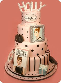 Holly Golightly Audrey Hepburn Breakfast at Tiffanys Cake by Confetti Cakes: Hand Sculpted Cakes